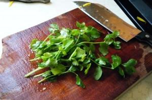 making watercress salad