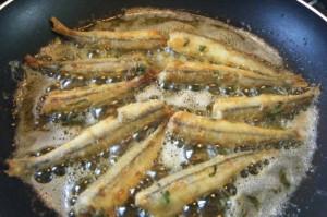 trini fry sardines