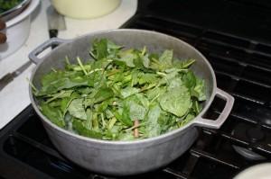 cooking chorai bhaji