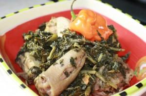 cooked callaloo
