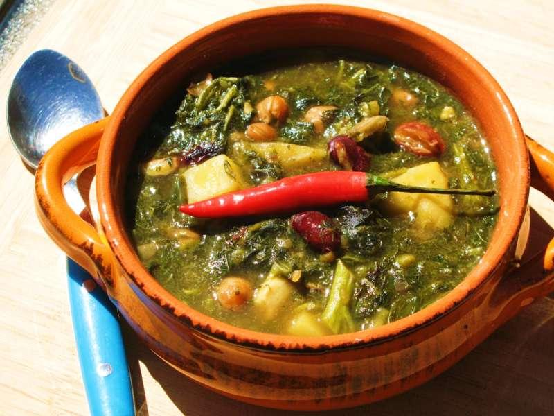 Jamaican Callaloo Amaranth And Bean Soup Caribbeanpot Com