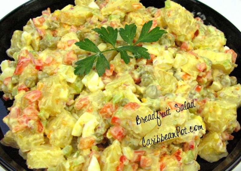 A Delightful Caribbean Breadfruit Salad.   CaribbeanPot.com