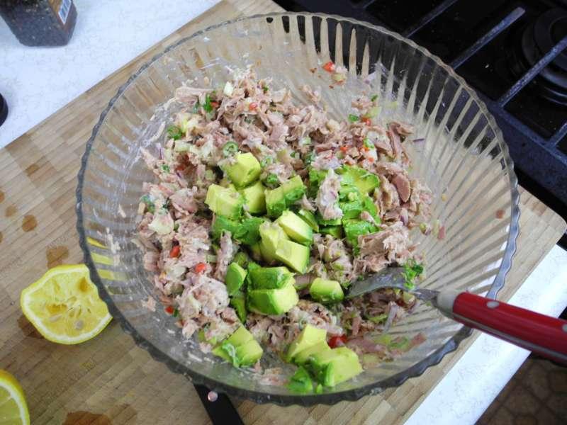 Caribbean Salads Ready To Go: Caribbean Style Tuna Sandwich Spread.