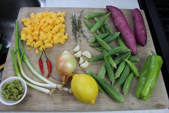 Vegetarian Trinidad callaloo (2)