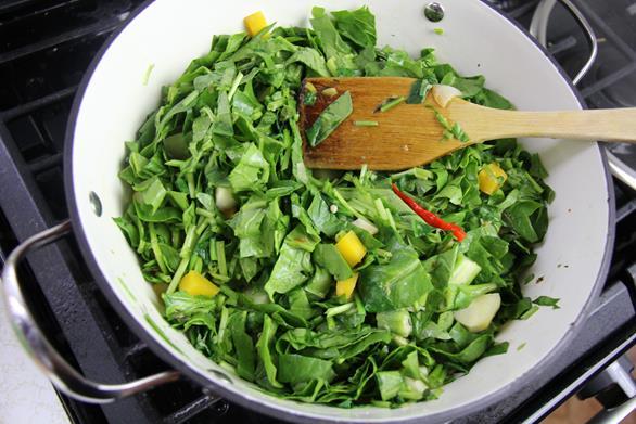Vegetarian Trinidad callaloo (8)