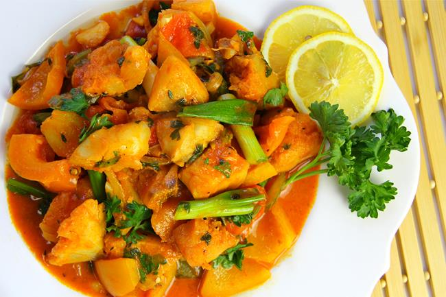 Caribbean fish stew using fresh cod for Fish soup recipe cod