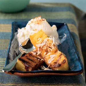 grilled-pineapple-with-shreded-coconut