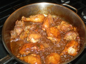 stew chicken for pelau
