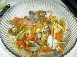 tobago curry crab