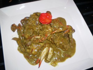 trini curry crab