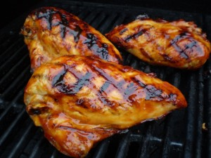 grilled chicken with pineapple glaze