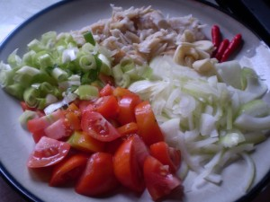 trinidad tomato and saltfish