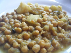 aloo and channa