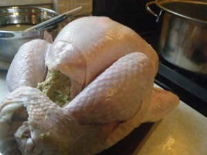 how to stuff a turkey