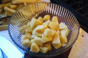 how to make pineapple chow