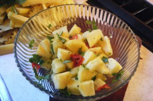trini pineapple chow recipe