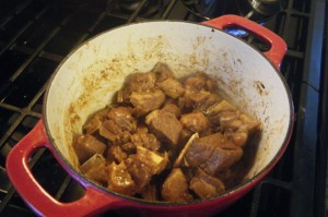 cooking trini style curry goat