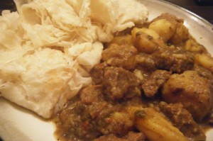 curry beef with roti