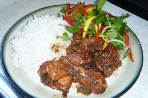 stew chicken with rice