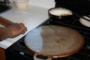 Trinidad Buss Up Shut roti step 19