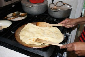 Trinidad Buss Up Shut roti step 25