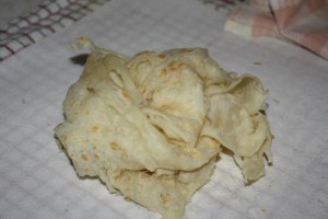 Trinidad Buss Up Shut roti step 29