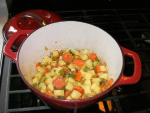 cooking trini chicken soup