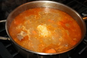 making trini soup