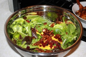 caribbean salad with candied pecans and sliced mango (12)