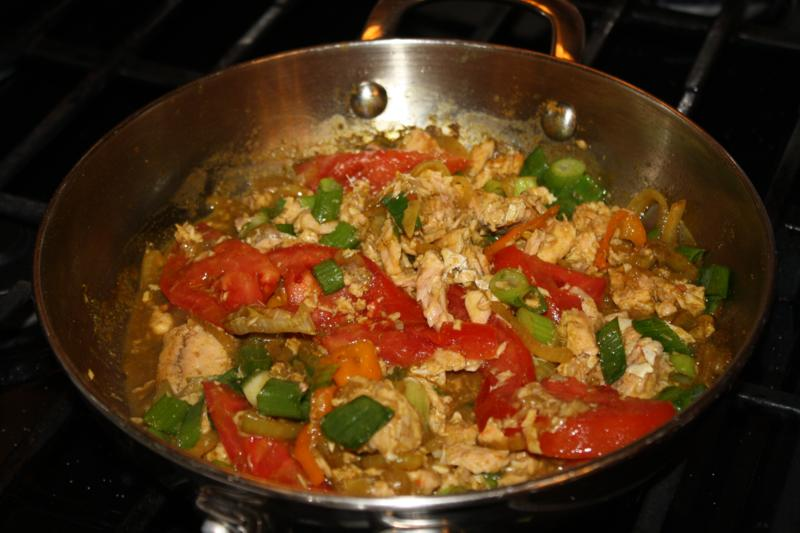 An exciting curry dish using canned salmon for Canned fish recipes