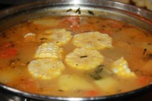 trini corn soup recipe (7)