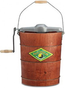 vintage ice cream maker by white mountain