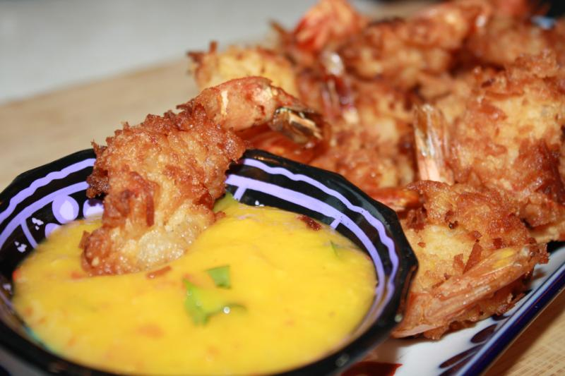 Coconut Shrimp With A Spicy Mango Dipping Sauce Recipe. | CaribbeanPot ...