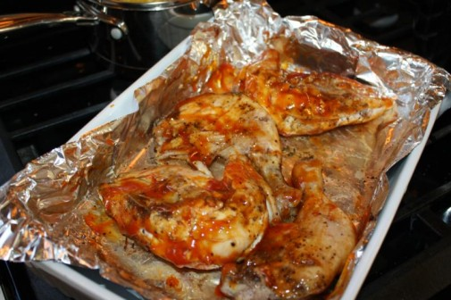 how to turn sobey chicken into bbq chicken