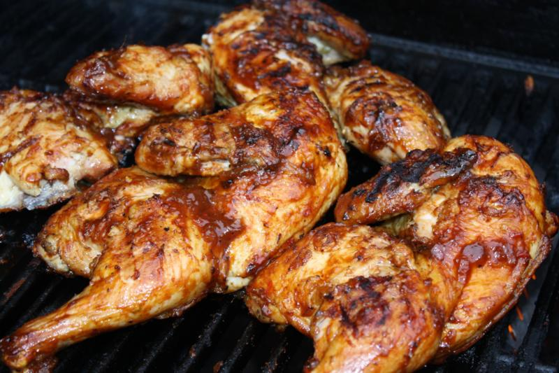 Caribbean Tamarind Grilled Chicken on homemade steak sauce