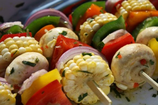 Grilled Vegetarian Kabobs, Veggie Sides, BBQ for Vegan, Meal Prep, Fourth of July BBQ Ideas