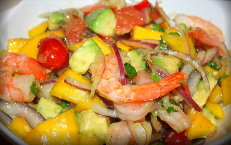 Shrimp, Avocado and Mango Salad. | CaribbeanPot.com