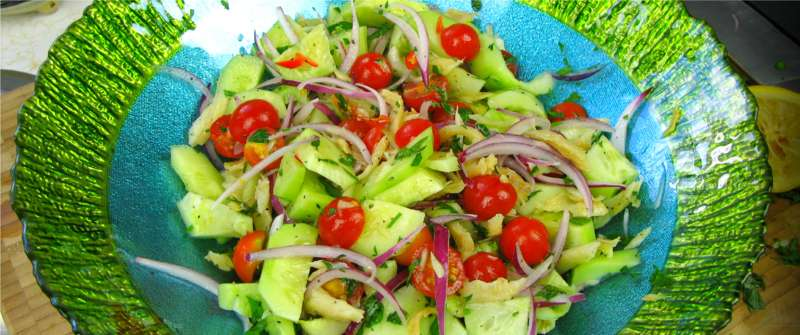 A classic caribbean summer salad from my garden caribbeanpot after posting the recipe forumfinder Images