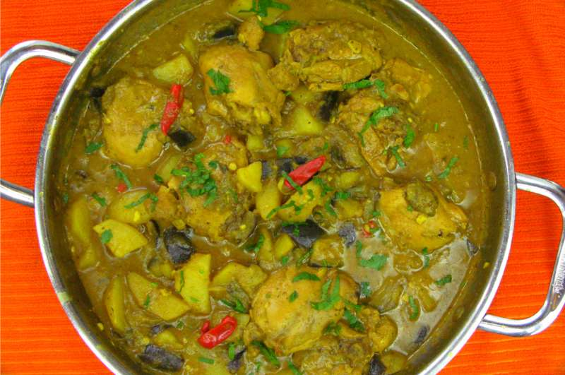 Curry chicken with eggplant simmered in coconut milk caribbeanpot even forumfinder