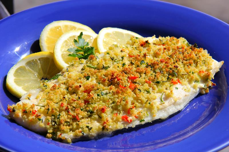 herb crusted basa fillet done the caribbean way
