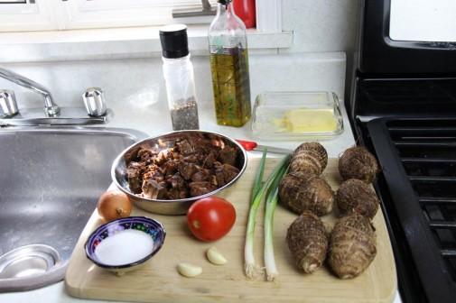 trinidad stew pork with eddoes (1)