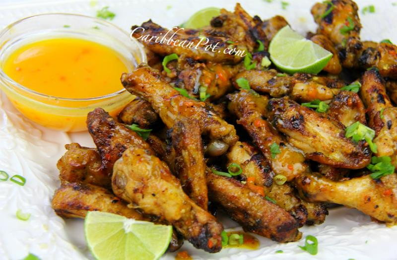 grilled mango buffalo chicken wings (10)