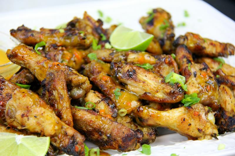 grilled mango buffalo chicken wings (9)