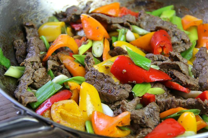stir fry beef with peppers (11)