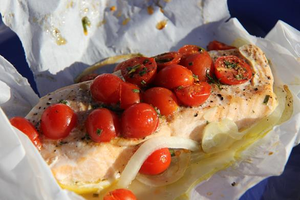 Simple recipe for tasty salmon in the oven for How to cook salmon fish