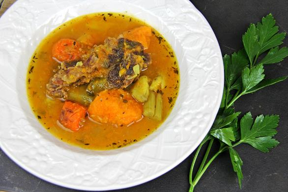 caribbean pumpkin and beef soup (11)
