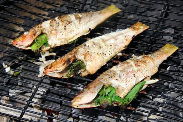 The caribs grilled jamaican escovitch fish for Bbq fish grill