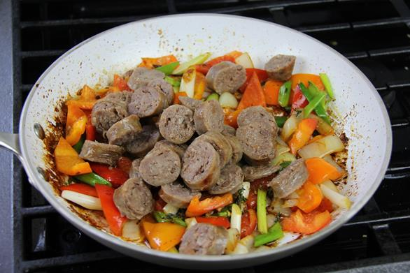 breakfast sausage with peppers recipe (8)