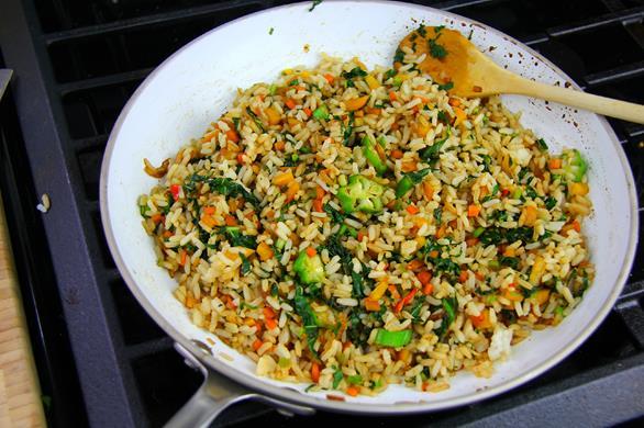 jamaican callaloo fried rice  (6)