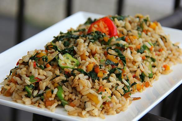 jamaican callaloo fried rice  (7)